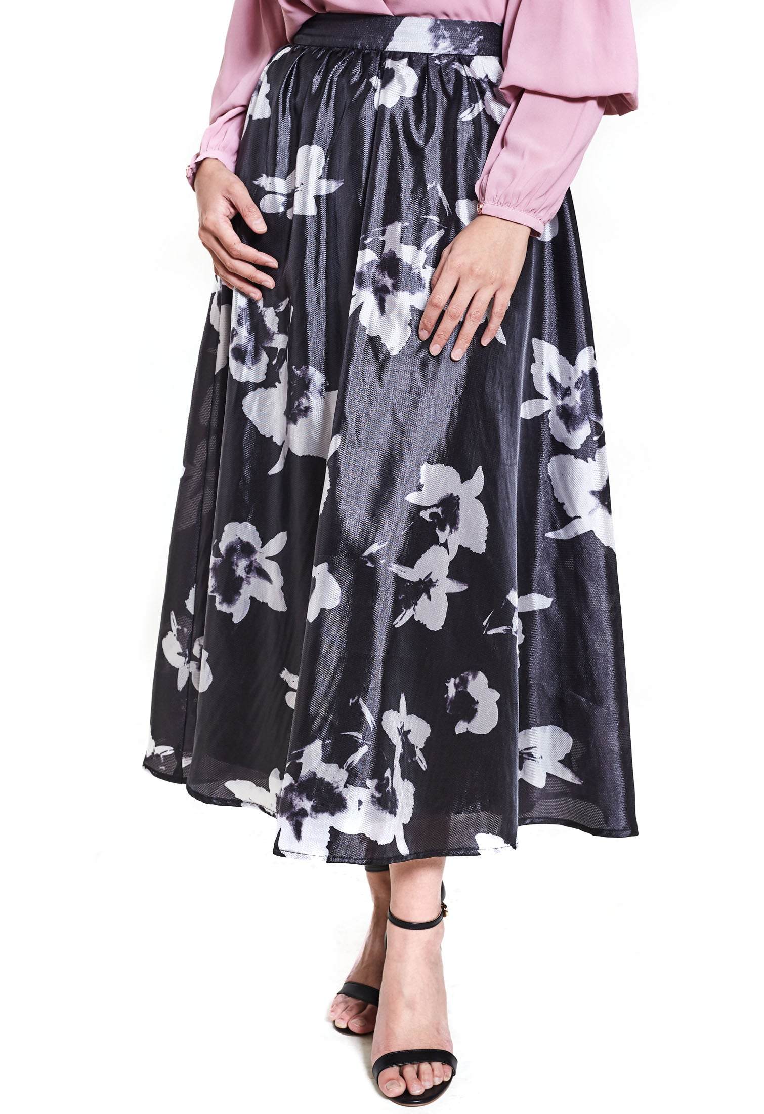Double Layer A-Line Midi Skirt