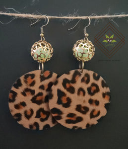 Chrissy-O's Cheetah Print Earrings