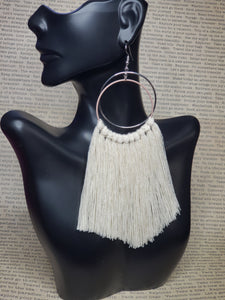 Free Spirit Sweet Cream Macramé Earrings