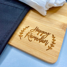 Load image into Gallery viewer, Happy Ramadan kitchen Gift Set | Potholder | Cutting Board | Charcuterie | Towel | Kitchen Essentials | Family Eid Gift