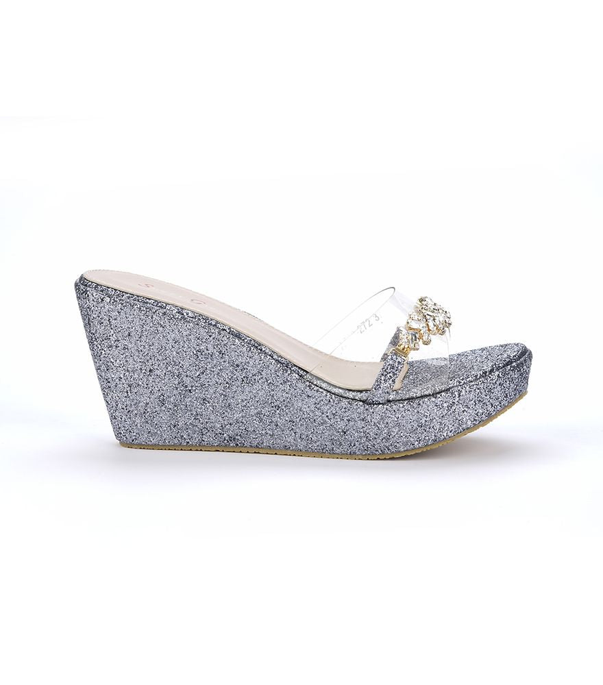 LADIES FASHION WEDGE HEELS SHOES