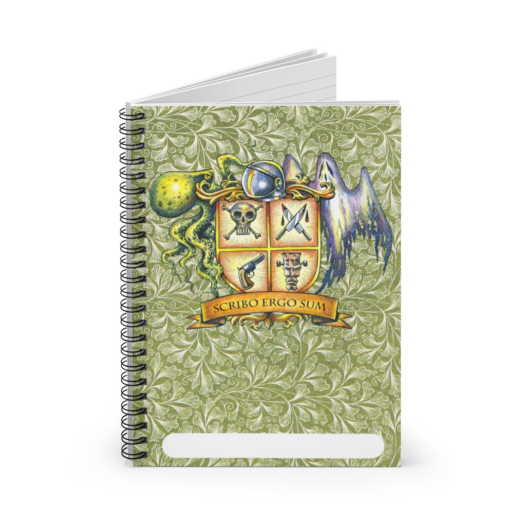 """I Write <br>Therefore I am"" <br>118-page spiral notebook, ruled"