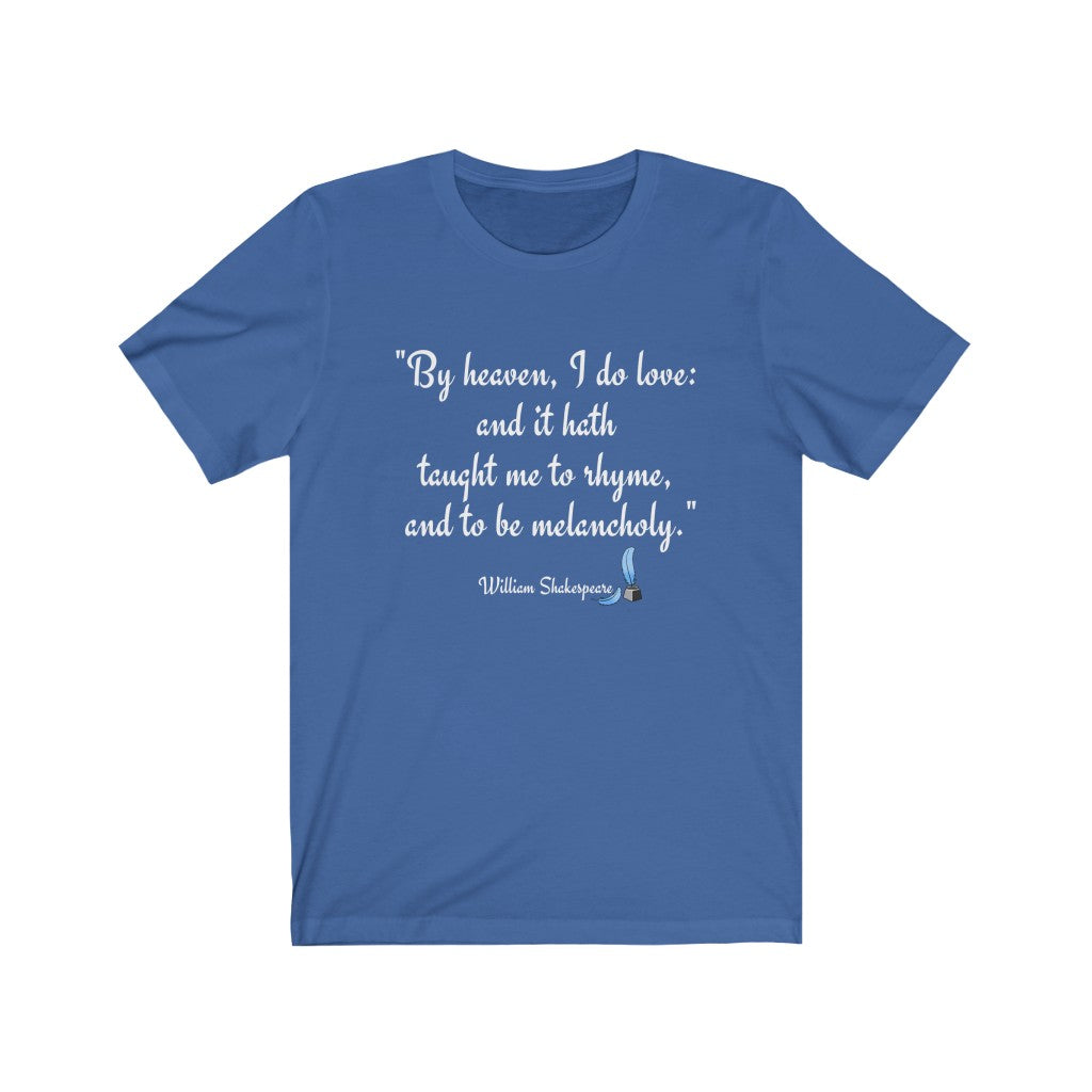 shakespeare lover t-shirt
