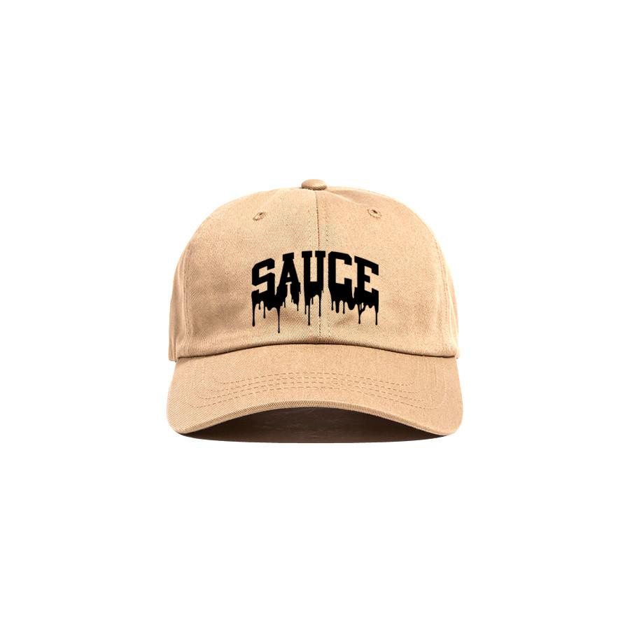 Khaki/Black 'Sauce University' Dad Cap