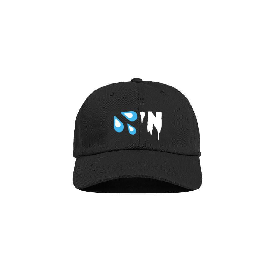 Black 'Drippin' Dad Cap