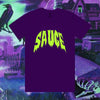 Spooky Sauce Tee - Purple/Slime Green