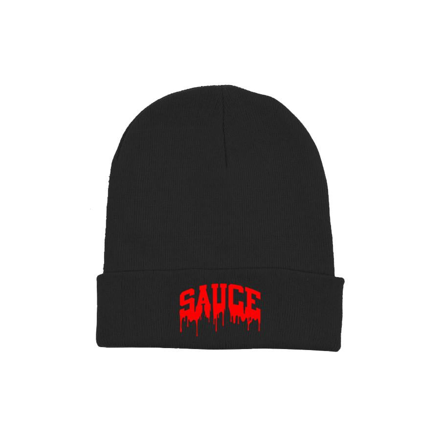 Black/Red 'Sauce University' Beanie