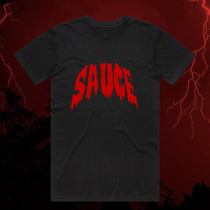Spooky Sauce Tee - Black/Red