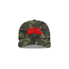 Camo/Red 'Sauce University' Dad Cap