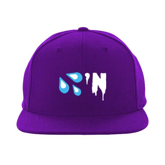 Purple 'Drippin' Snapback