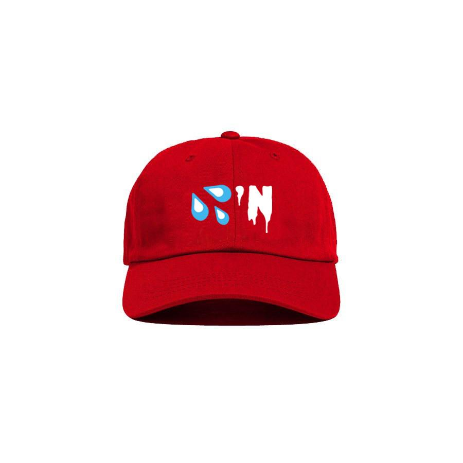 Red 'Drippin' Dad Cap