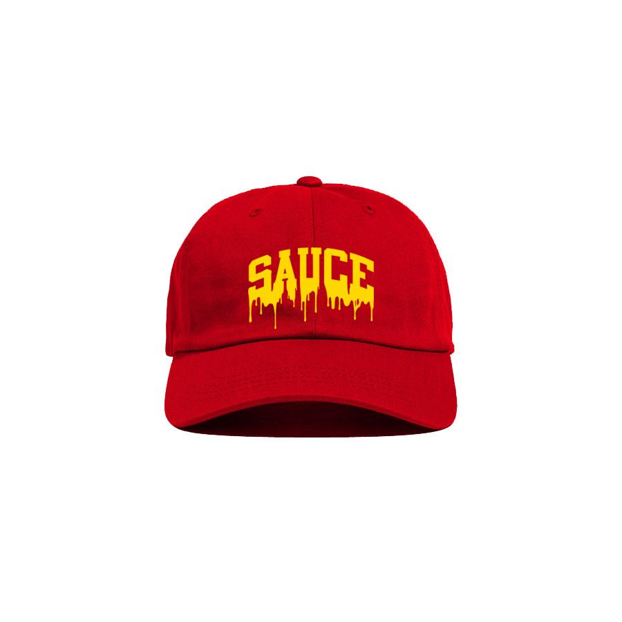 Red/Yellow 'Sauce University' Dad Cap