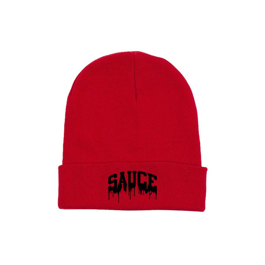 Red/Black 'Sauce University' Beanie