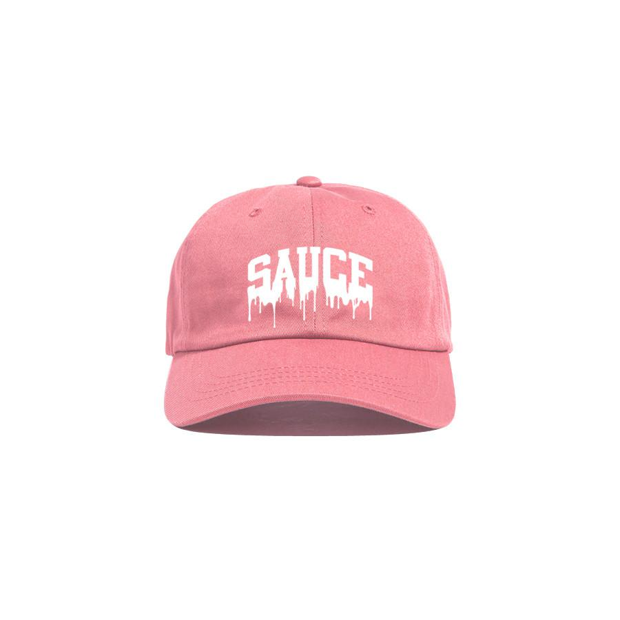 Pink/White 'Sauce University' Dad Cap