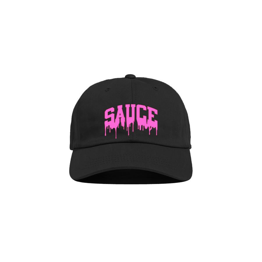 Black/Pink 'Sauce University' Dad Cap