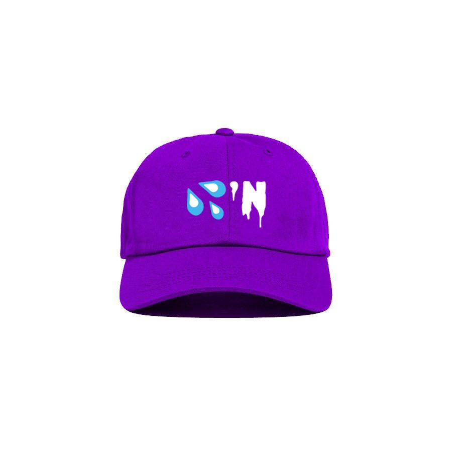 Purple 'Drippin' Dad Cap