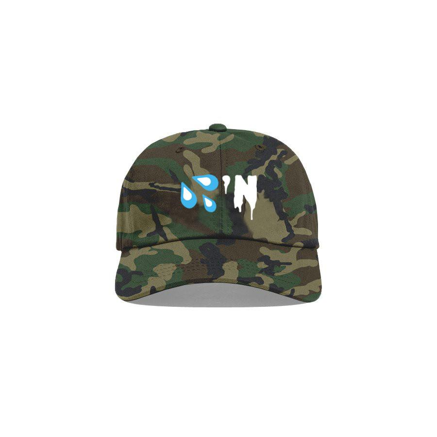Camo 'Drippin' Dad Cap