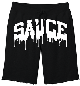 OG SAUCE FLEECE SHORTS - Black/White