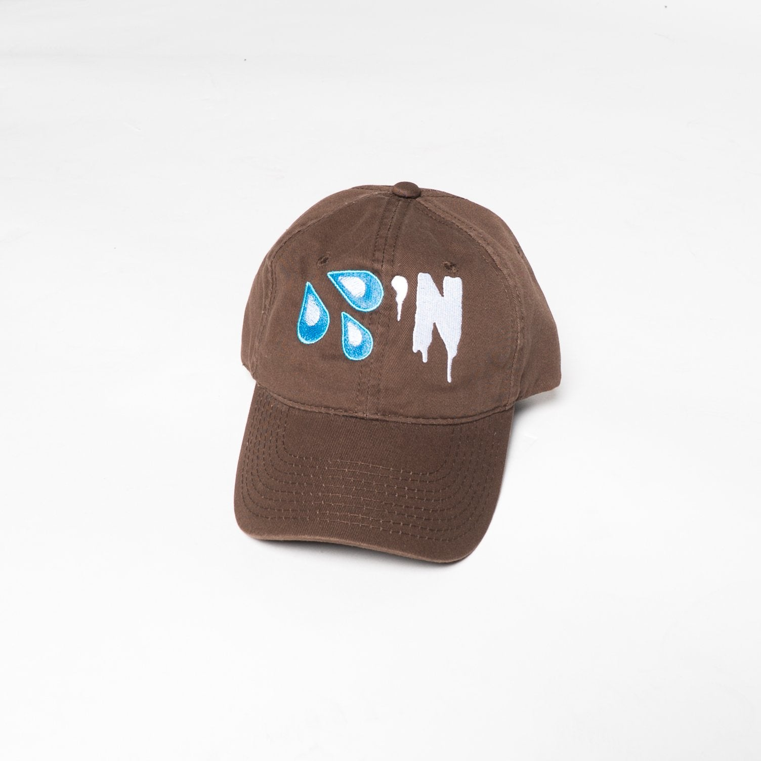 Brown 'Drippin' Dad Cap