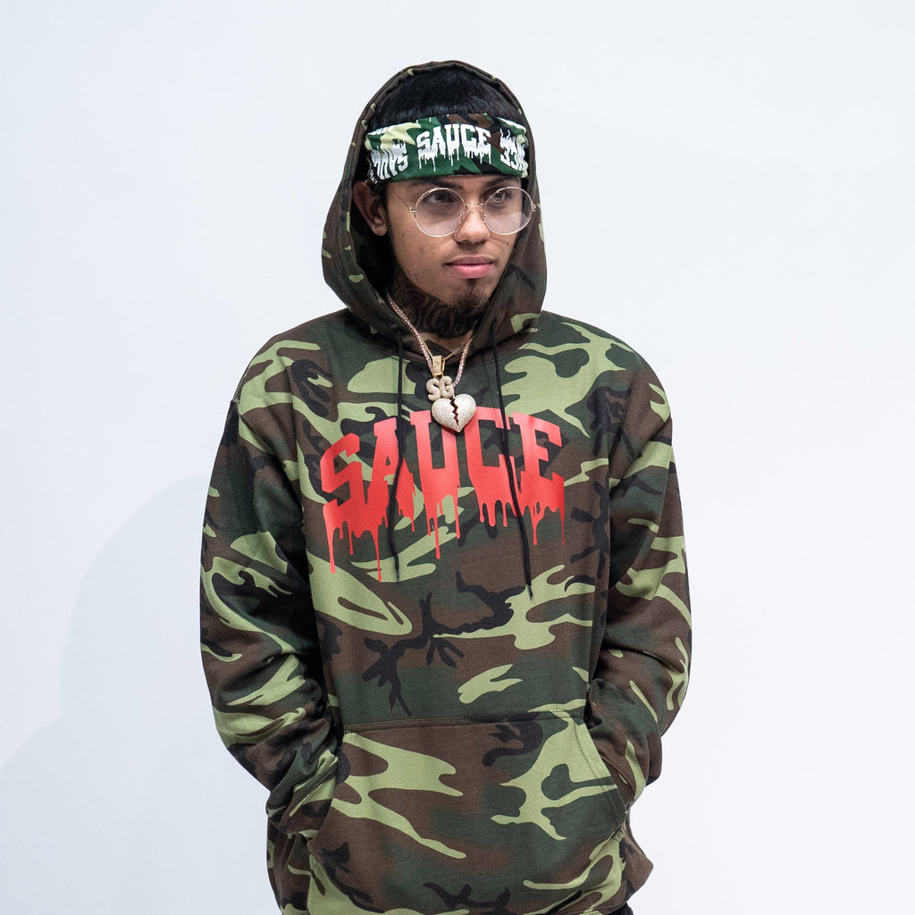 Limited CAMO/RED Hoodie