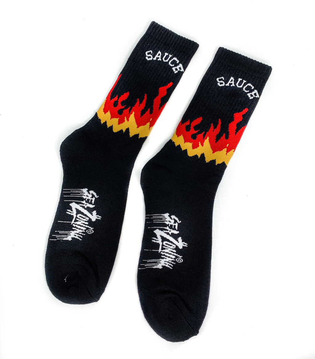 Sauce Flame Socks - Black