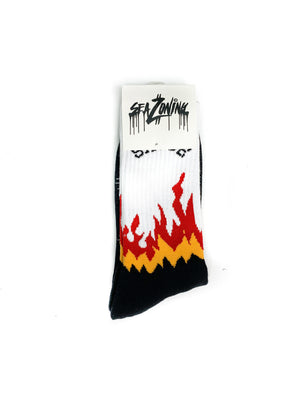Sauce Flame Socks - White