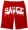 OG SAUCE FLEECE SHORTS - Red/White