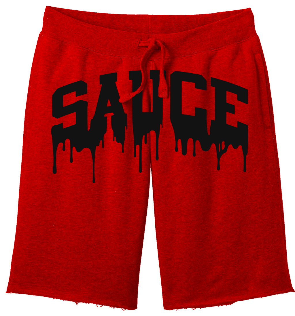 OG SAUCE FLEECE SHORTS - Red/Black