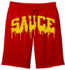OG SAUCE FLEECE SHORTS - Red/Mustard