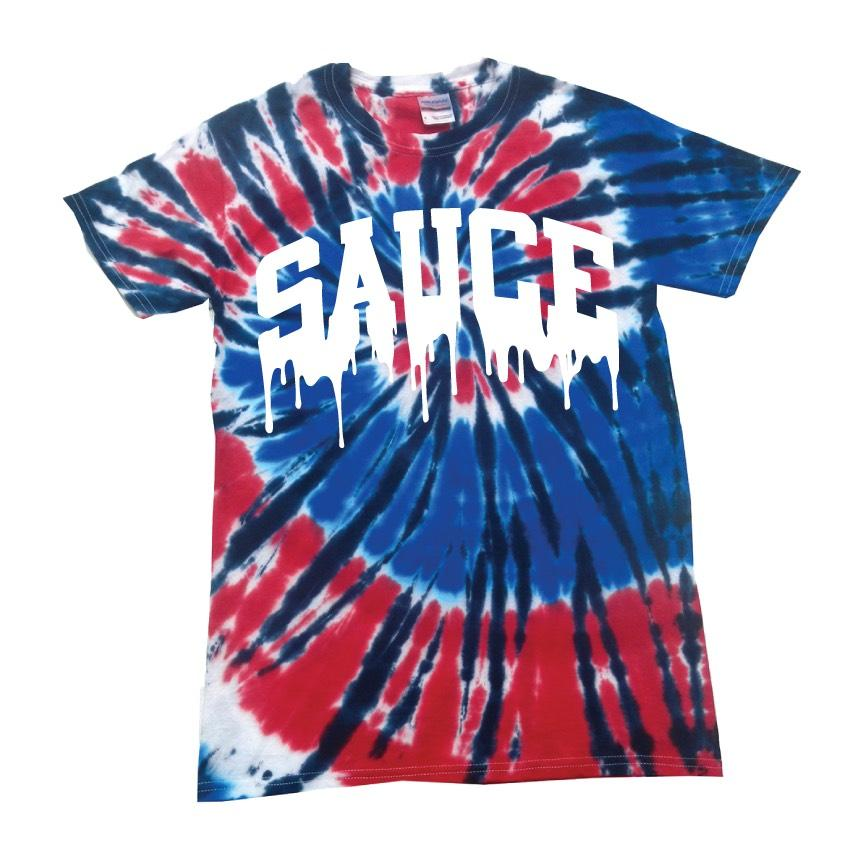 OG Sauce Red/White/Blue Tie Dye T-Shirt