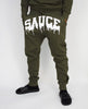 OG SAUCE JOGGERS - FOREST GREEN/WHITE