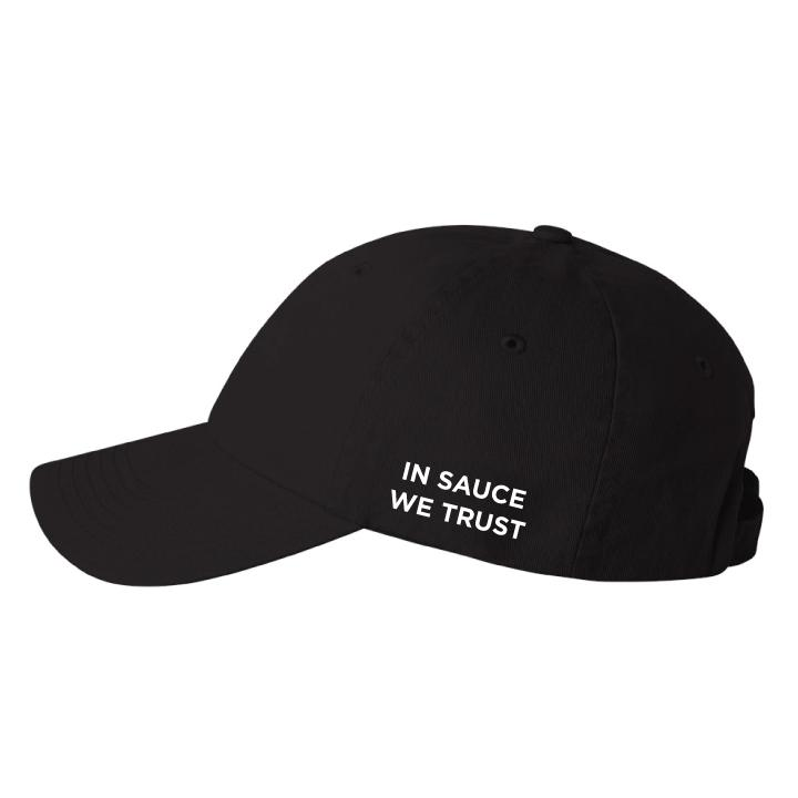 In Sauce We Trust Dad Cap - Black