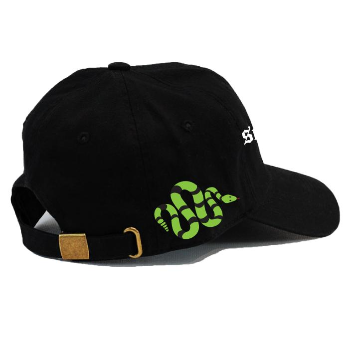 Snake Dad Cap - BLACK/GREEN