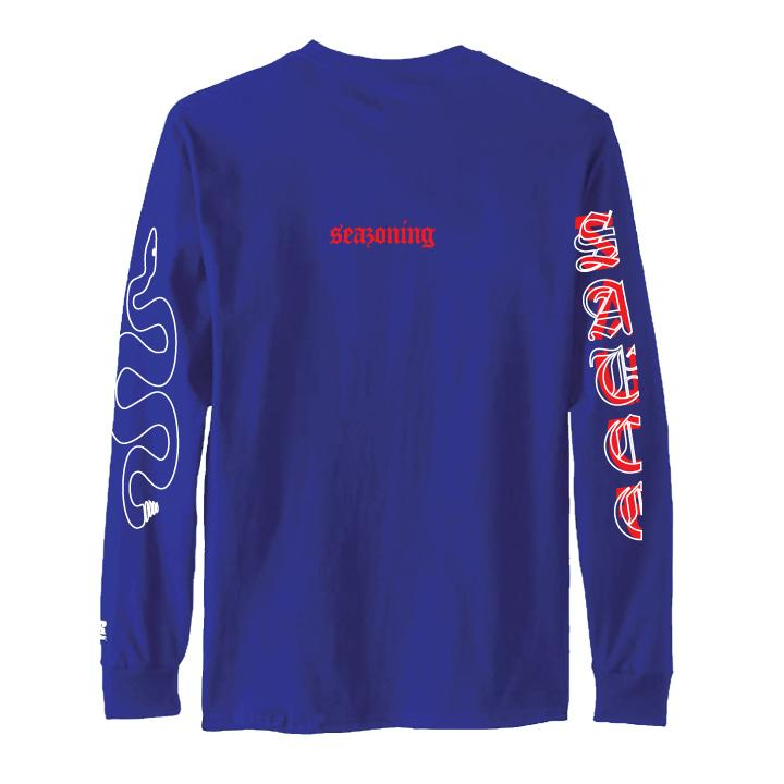 Snake Sauce LS Tee - NAVY/RED