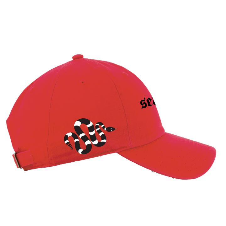 Snake Dad Cap - RED/BLACK