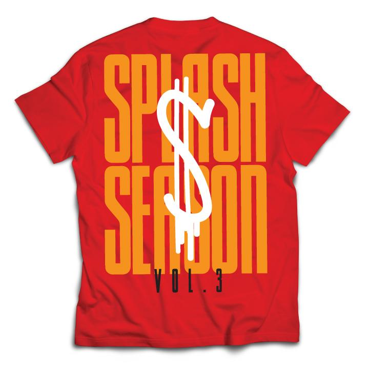 Splash Season Tee- RED/YELLOW