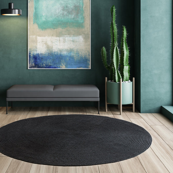 Asiatic Nico Charcoal 200 CM Circle Outdoor Rug Asiatic