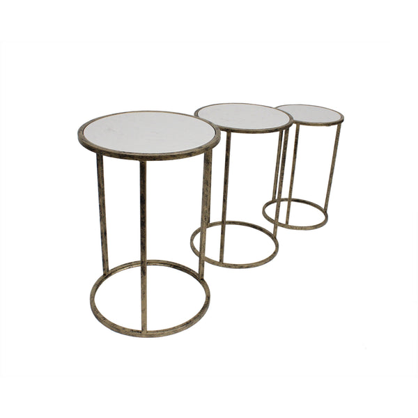 Marble Top Nest of Tables - Set of 3 - TF015M Mindy Brownes