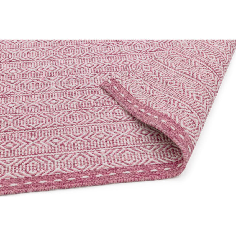 Asiatic Knox Reversible Wool Dhurry Pink