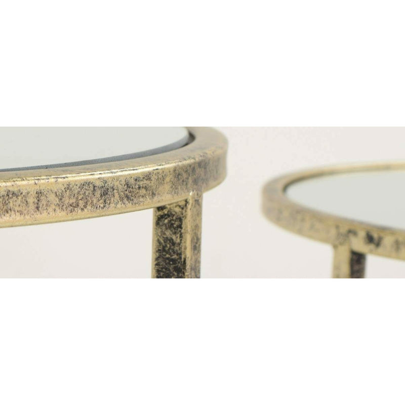 Mirror Top Nest of Tables - Set of 3 - TF015