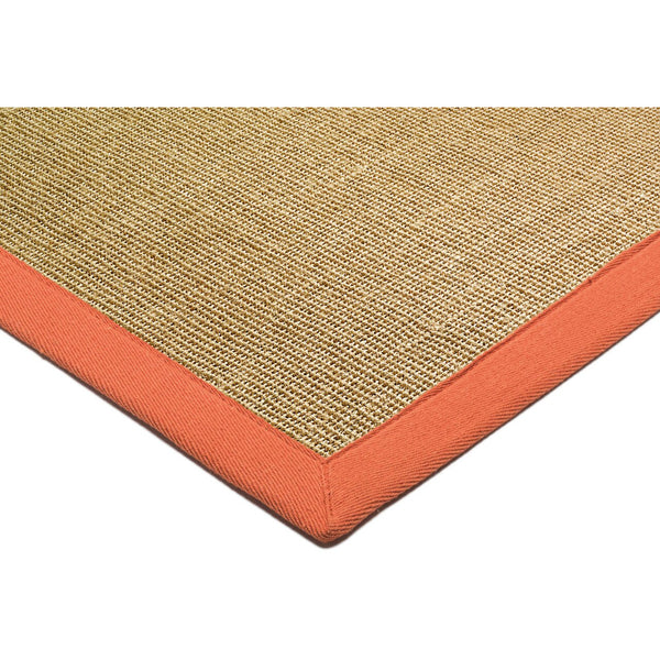 Asiatic Sisal Linen with Orange border-Corner