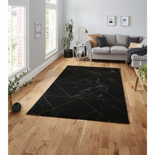 Think Rugs Craft 23299 Black/Gold