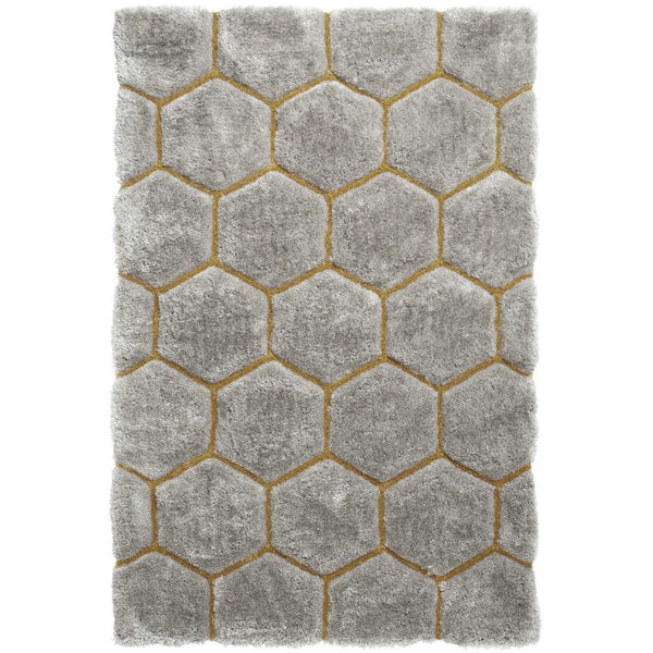 Think Rugs Noble House Grey Yellow NH30782