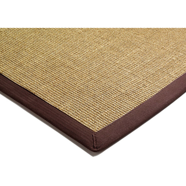 Asiatic Sisal Linen with Chocolate border-Corner