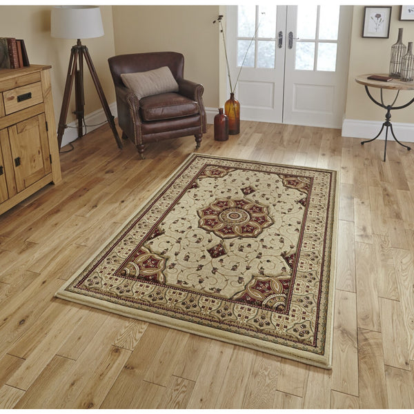 Think Rugs Heritage 4400 Cream/Red Rug