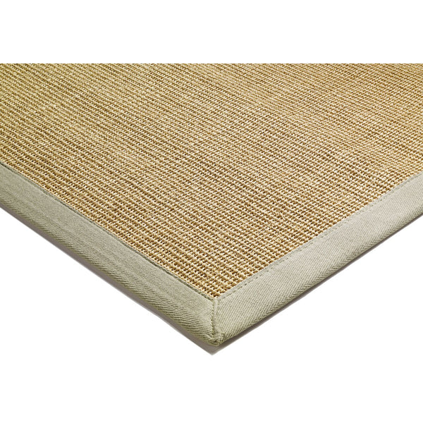 Asiatic Sisal Linen with Sage border-Corner