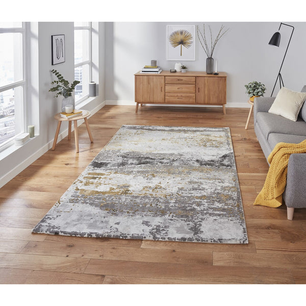 Think Rugs Craft 19788 Grey/Ochre Rug