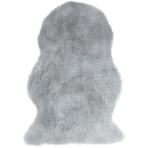 Asiatic Auckland Faux Sheepskin Silver