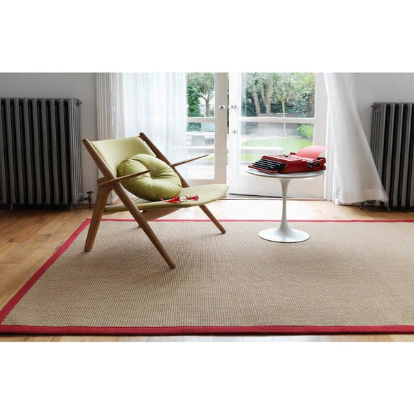 Asiatic Sisal Linen with Red border