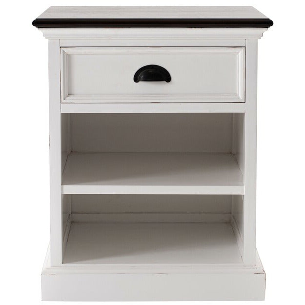 Halifax Accent Bedside Table with Shelves Ornatus Interiors